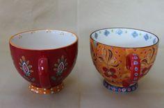 DUTCH WAX by COASTLINE IMPORTS JUMBO CUPS COFFEE/TEA MUGS MULTI