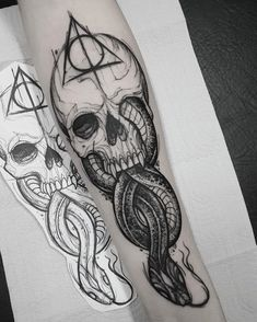 Harry Potter And The Cursed Child Jobs over Harry Potter Houses Quiz Realistic Hp Tattoo, Henna Tattoos, Skull Tattoos, Leg Tattoos, Body Art Tattoos, Sleeve Tattoos, Tatoos, Tiny Tattoo, Tattoo Forearm