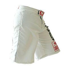 BD Mens MMA Boxing Muay Thai Fight Shorts (L, White) BD…