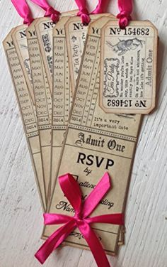 Party in Style Vintage Alice in Wonderland Tag Style Invitations & Tickets (Hot Pink x 6)) K9Aroma http://www.amazon.co.uk/dp/B00LBY0TCS/ref=cm_sw_r_pi_dp_cf3-tb027WH3V