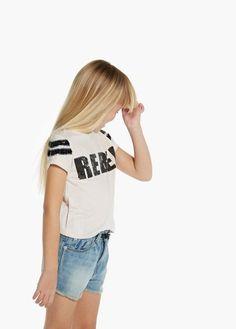 Sequin t-shirt   MANGO KIDS