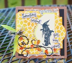 How to Make a Stamped Halloween Card (From Clearsnap)