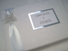 Crystal Snowflake | Winter Wedding Guest Book | Personalised Guest ...