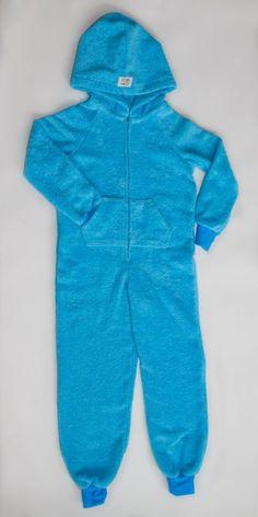 EZ Dry Onezie in blue. The original children's towel onesie.