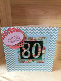 carte anniversaire pour fêter des 80 ans : Cartes par sabpaper
