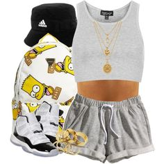 Really liking those shorts nowadays.., created by livelifefreelyy on Polyvore