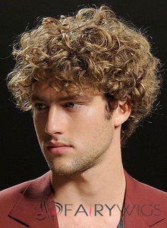 10 Inches Capless Virgin Brazilian Hair Short Blonde Mens Wigs