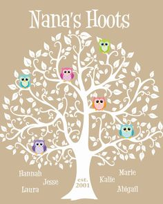 Mother's Day Gift  Grandma Gift Family Tree  by KreationsbyMarilyn, $15.00