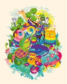 Gaia contest tee illustration on Behance