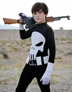 Child-Teen-Adult Premium PUNISHER COSTUME men kid halloween cosplay