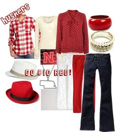 """""""Husker game day inspired look"""" by michelle-witzki on Polyvore"""