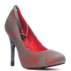 Ed Hardy Womens Gyna Pump-Grey - My collection from top High Heel Pumps, Pumps Heels, Stiletto Heels, Only Fashion, Fashion News, Womens Fashion, Couture Shoes, My Collection, Ankle Strap