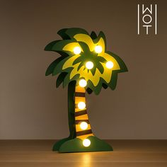 Palma decorativa di Legno Wagon Trend (8 LED) Lampe Decoration, Tree Lamp, Trends, Made Of Wood, Ultra Violet, Palm Trees, Decorative Items, Sweet Home, Lighting