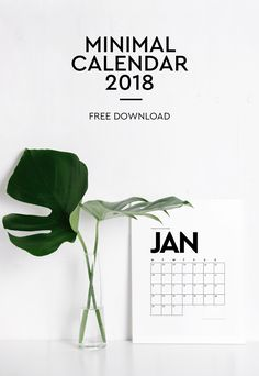2018 Minimalistic Wall Calendar - Free Download! Freebies   Printable calendar   2018 Calendar   Minimalistic calendar   Free download   Minimal Calendar   Typography   Marble Calendar   Customisable Calendar 2018   Foreign Rooftops