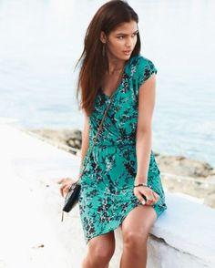 Modern Knit Surplice Dress-Like this style but reviews weren't good....Garnet Hill