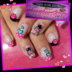 "unas_con_estilo_michel ""uñas Con Estilo"" foto Michel Instagram Cat Nail Art, Cat Nails, Holiday Nails, Christmas Nails, Hello Nails, Manicure, Nails For Kids, Nails 2018, Bright Nails"
