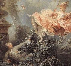 "fragonard paintings | closer view of Fragonard's 18th century painting ""The Swing"", an ..."