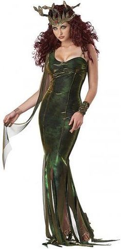 Medusa Costume - all you need to add is a piercing stare that make people feel like they've been turned to stone ............. or wear a pair of large sunglasses to keep them safe!!