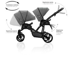 Bebetto 42 Simple Wózek Bliźniaczy 2W1 Peg Perego, Baby Jogger, Baby Strollers, Babe, Kawaii, Sport, Children, Simple, Baby Prams