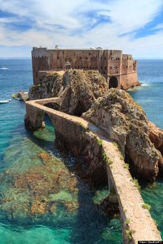 You can actually book a stay in this abandoned ocean fortress off the coast of Portugal