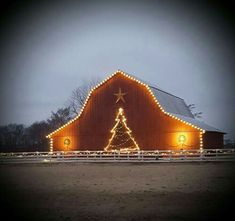 Good night,  God bless you 🤗 Country Christmas, Christmas Love, Christmas Lights, Christmas Yard, Outdoor Christmas Decorations, Light Decorations, Decoration Noel, Country Roads, Country Barns