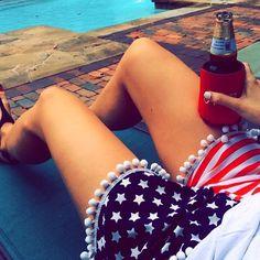 follow along ∘ AmericanBelleKel .  american flag shorts