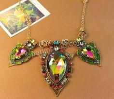 Zinklegierung Schmuck Halskette, mit Eisenkette & Glas, mit Verlängerungskettchen von 5cm, plattiert, Rolo Kette & mit tschechischem Strass,...