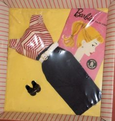 Vintage Barbie Cruise Stripes #918 (1959-1962) never removed from box