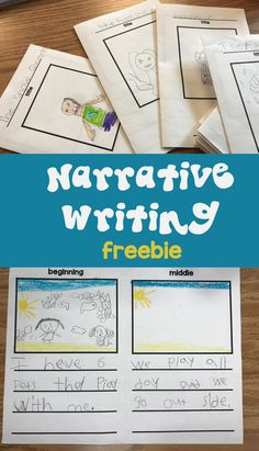 Your kids will love writing their own books with this narrative writing freebie. Narrative Writing Kindergarten, Narrative Writing Prompts, Personal Narrative Writing, 1st Grade Writing, Writing Workshop, Kids Writing, Teaching Writing, Writing Activities, Writing A Book