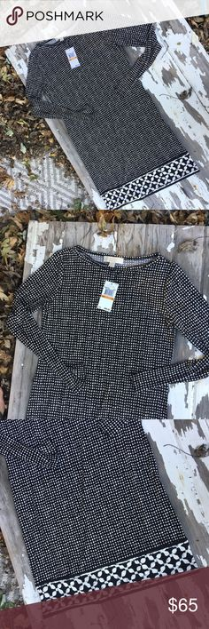 NWT Michael Kors dress Beautiful nwt Michael Kors black & white dress. Full length sleeves. Michael Kors Dresses Long Sleeve