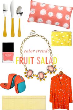 Color Trend: Fruit Salad, Dominican Republic  // Twin Stripe