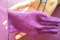 ARTES-ANAS: CALCETINES 5 AGUJAS,TALÓN Y CAZUELA, (2 DE 3) Fingerless Gloves, Arm Warmers, Crochet, Fashion, Knit Socks, Long Scarf, Tricot, Vestidos, Crochet Socks