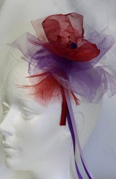 red hat society headband  by HELEN LE ROY #HatAcademy #millinery