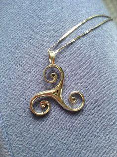 Merlin Druid symbol necklace!