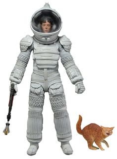 I love this figure New to my site Ellen Ripley in her Spacesuit, and she comes with a removable helmet, harpoon gun with two different attachments, and a frightened version of Jonesy the cat! This fully articulated figure measures 7-inches tall and features special 35th Anniversary packaging. For more info www.bonanza.com/booths/bem