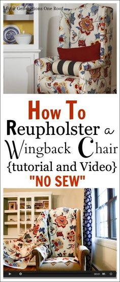 how to reupholster a chair tutorial and video #ChairRecicle