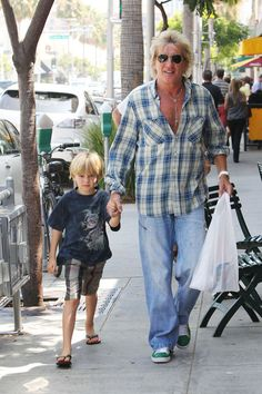 Rod Stewart and son.
