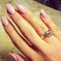 Nails...like this color, but I'm definitely not into the pointed nails trend.