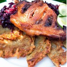 Ropogós kacsacomb lepcsánkával, almás párolt káposztával Food, Essen, Meals, Yemek, Eten