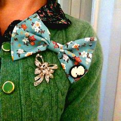 """nestprettythings:    Over Sized, """"I Feel Pretty"""" Bow Brooch by Mrs:B on Flickr."""