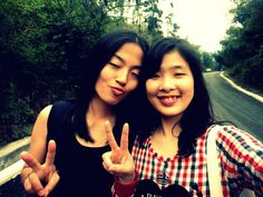 with my good friend in Guilin