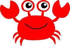 Red Crab by @Scout, A clipart of cute red crab., on @openclipart