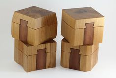 When shopping for timber I came across a nice block of Kauri which I thought would be perfect for making some sliding dovetail ring boxes. I calculated that I could get four boxes out of this block so I went ahead and chopped it up into four equal parts. I then cut the tops off …