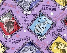 Disney Princess Sketch Toss Fleece Fabric