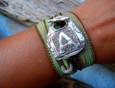 another silk ribbon wrap bracelet #bohemian