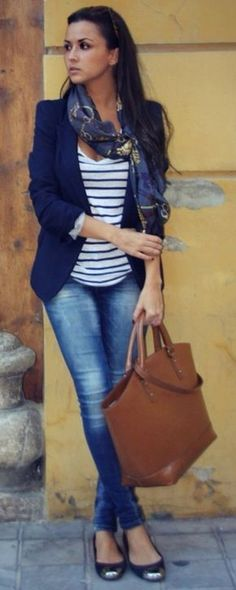 Perfect blazer. Business casual outfit for petite women!