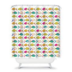 Colorful Shower Curtain Kids Bathroom Decor Fish Childrens