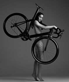 British Olympic Cyclist Victoria Pendleton. Part of the 'Naked Ambition' series photographed by John Wright.