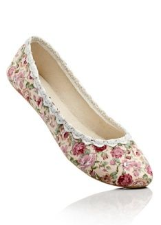 ballerina flats with roses