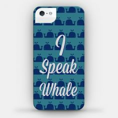 I found 'I Speak Whale (iPhone4 Case) (Size 4; Color White)' on Wish, check it out!